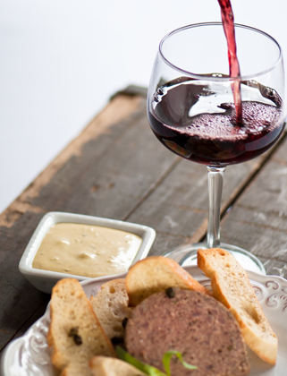 Pate Wine Appetizer